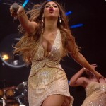 Beyonce performs at the Radio One show at the Dome in Brighton UK