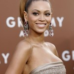 Singer Beyonce Knowles poses at Grammy Awards in Los Angeles