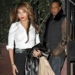 Beyoncé & Jay-Z leaving restaurant in New York 10 Mar 2007