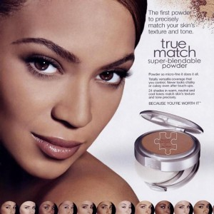 Beyonc L&#039;oreal True Match super-blendable makeup AD 2005-2