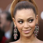 Singer Beyonce poses at Grammy Awards in Los Angeles