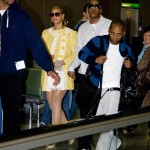 Beyoncé & Jay-Z on Heathrow Airport London 26 May 2008