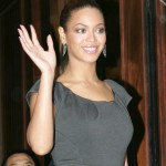 Beyoncé arrives at the Mandarin Oriental London 10 nov 2008