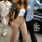 Beyonce Shooting an American Express Commercial 6 aug 2007