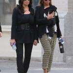 Tina Knowles, Beyoncé & Blue Ivy in Tribeca NY 12 march 2012