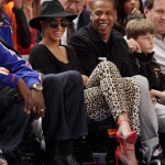 Beyonce and Jay-Z attend the Knicks game in NYC