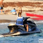 Beyoncé & Jay-z on the beach in St. Barths 9 April 2012