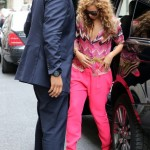 Beyoncé,Blue & Jay-Z spotted in Paris 4 jun 2012