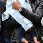 Beyonce & Jay-Z With Baby Blue Ivy In Paris 4 jun 2012