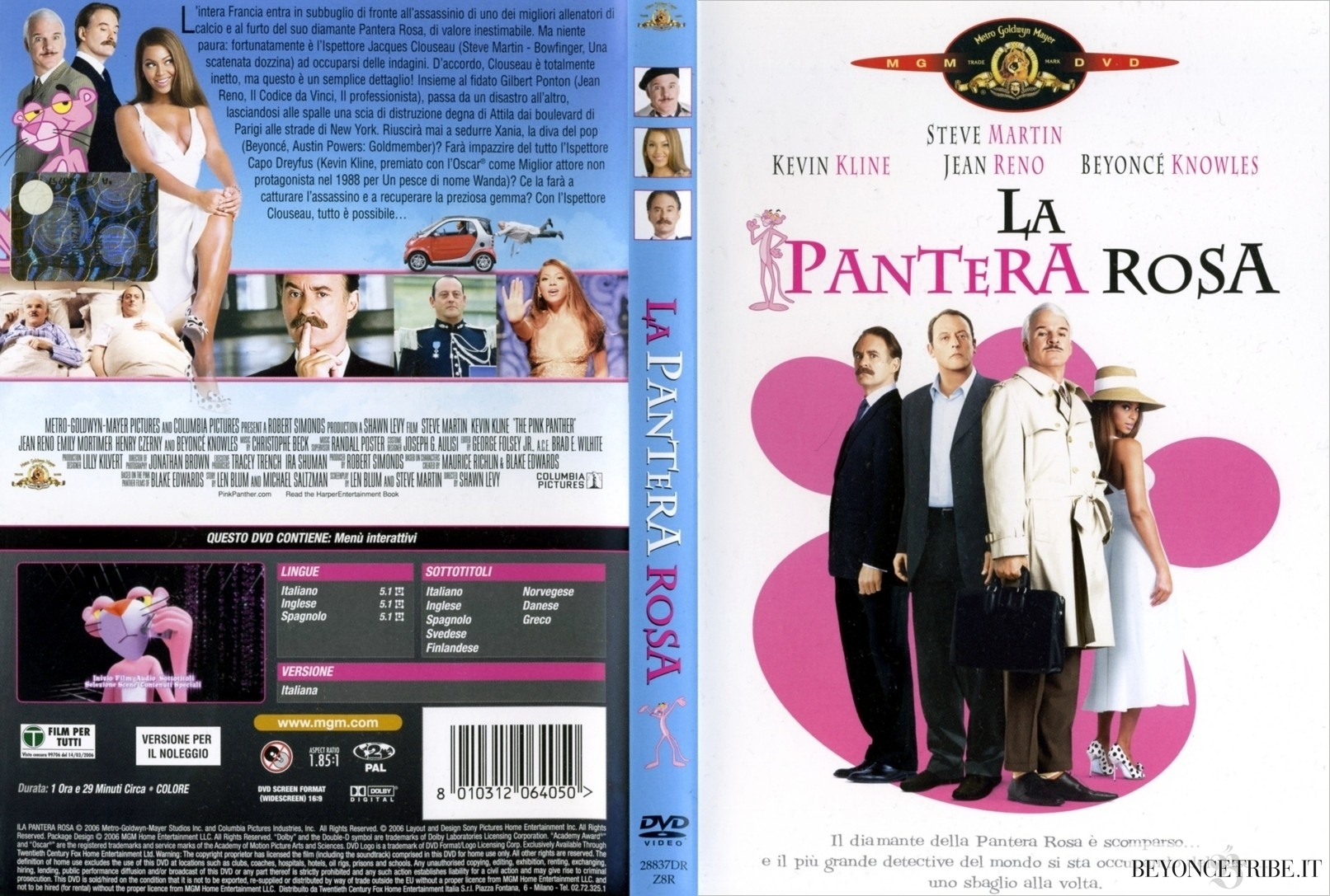 The Pink Panther Poster & DVD Cover Italian edition