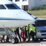 Beyonc &amp; Blue Ivy spotted at Le Bourget Airport In Paris  France 8 june 2012