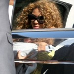 Beyoncé & Blue Ivy spotted at Le Bourget Airport In Paris - France 8 june 2012