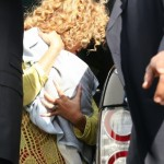 Beyonc &amp; Blue Ivy spotted at Le Bourget Airport In Paris - France 8 june 2012