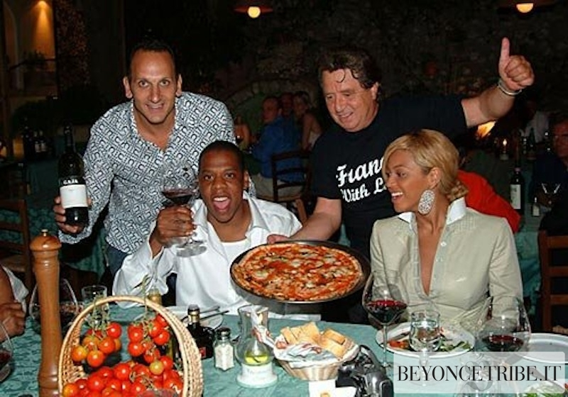 Jay-Z &amp; Beyonc Ristorante Villa Verde Capri:Italy 2004