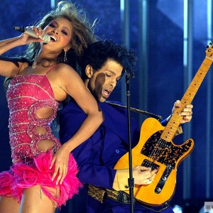 Prince and Beyoncé perform at the 46th Annual GRAMMY Awards held at Staples Center on 8 Feb 2004 in LA