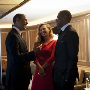 Obama ,Beyonc &amp; Jay-Z  at Obama Fundraiser event on 40/40 Club in NYC 18 sept 2012