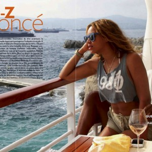 Beyoncé & Jay-Z article on Paris Match Magazine - Sept 2012