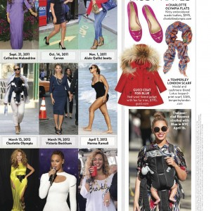 Beyonc article on Us Weekly magazine 17 Sept 2012 Scans
