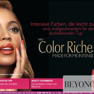 Beyoncé L'Oreal Color Riche Accords Intenses advertising 2010