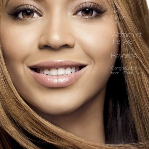Beyoncé AD L'Oréal woman worth 2009
