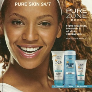 Beyoncé advertisment L'Oreal Pure Zone 2003