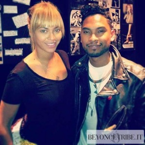 Beyonc on studio with Miguel