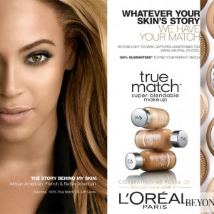 Beyonc L&#039;Oreal True Match advertising - 2012