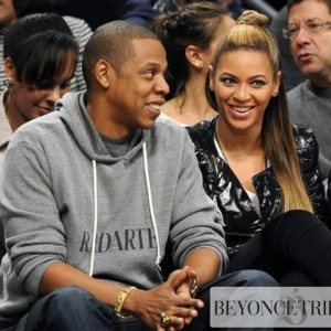 Beyonc &amp; Jay-Z attend the Brooklyn Nets x the Los Angeles Clippers NBA game at Barclays Center - NY 23 Nov 2012