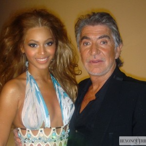 Bey & Cavalli on the set of Harper's Bazaar  photoshoot 2004-2