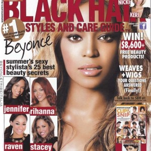 Beyoncé cover & scans Sophisticate's Black Hair Magazine Agosto 2011COVER