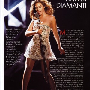 Beyoncé scans article Elle Magazine Italy march 2008-1