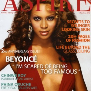 Beyonc cover &amp; article scans of Aspire Magazine May:June 2006 issue 1