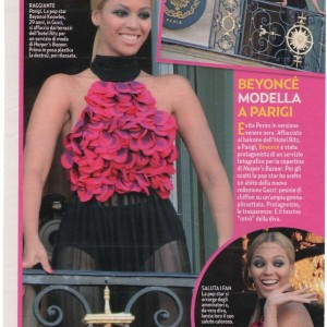 Scans Beyoncé article on Gente magazine - Italy 10 may 2011