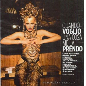 Scans Beyoncé article on Panorama magazine italy 13 July 2011