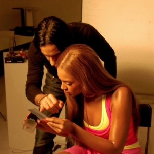 Beyonc on the set of L&#039;Oral by Lionel Derimais-10