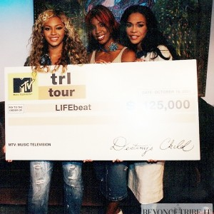 Destiny's Child Donates $125K to Lifebeat from TRL Tour 2001-2