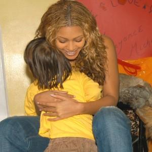 Destinys Child with Lifebeat visit a Children's AIDS Facility in Dec 2002-3