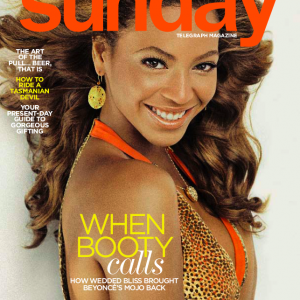 Beyoncé Sunday Telegraph Magazine cover 7 dec 2008