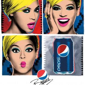 Un artwork della campagna ideata da Parkwood Entertainment per Pepsi Cola.