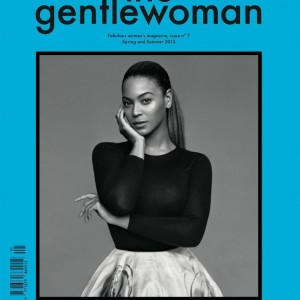 Beyoncé on the cover of The Gentlewoman magazine Spring:Summer 2013 Cover