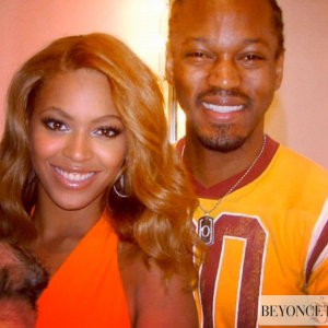 Beyoncé and hair stylist Oscar James