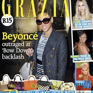 Beyoncé cover & scans Grazia magazine South Africa - 03 April 2013
