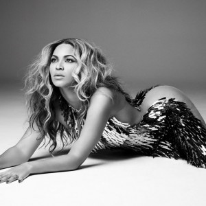 Beyoncé on photoshoot by Dave Roemer for Mrs. Carter Show Tour Book - 2013
