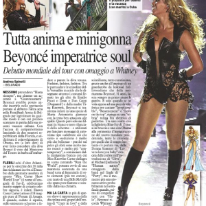 Beyoncé article scans Italy newspaper Il Resto del Carlino 17 april 2013-1