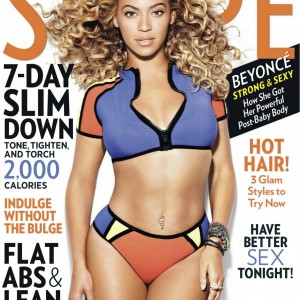 Beyoncé cover & article scans Shape Magazine Usa April 2013-1