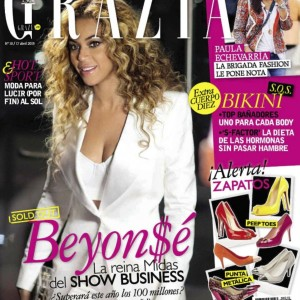 Beyoncé on the cover of Grazia magazine - Spain 2013