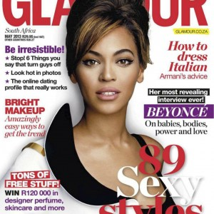 Beyoncé cover & article scans Glamour South Africa may 2013