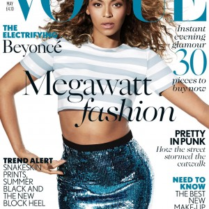 Beyoncé on the cover of Vogue Magazine UK - May 2013