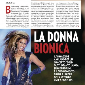 Beyoncé article scans Gente magazine - Italy 21 may 2013