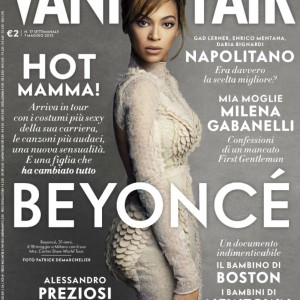 Beyonc cover &amp; article scans Vanity Fair magazine - Italy issue n 17 may 2013